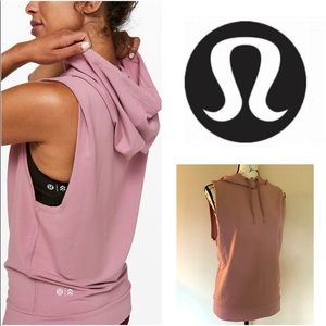 Lululemon Barry's Sleeveless Hoodie Vest Yoga Top
